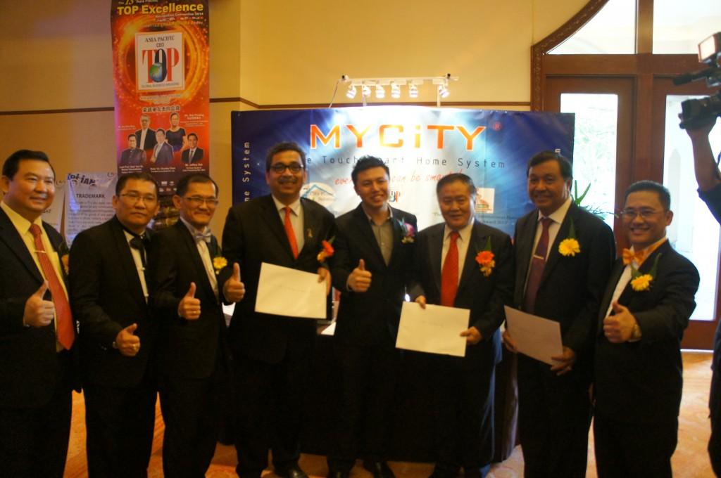 Y.B Datuk Dr. Abu Bakar Bin Mohamad Diah (Deputy Minister of Science, Technology & Innovation Malaysia);  Datuk Yong Khoon Seng (Former Minister of Works Malaysia);  Drs. Edward Zega (Nias Utara Bupati, Indonesia)