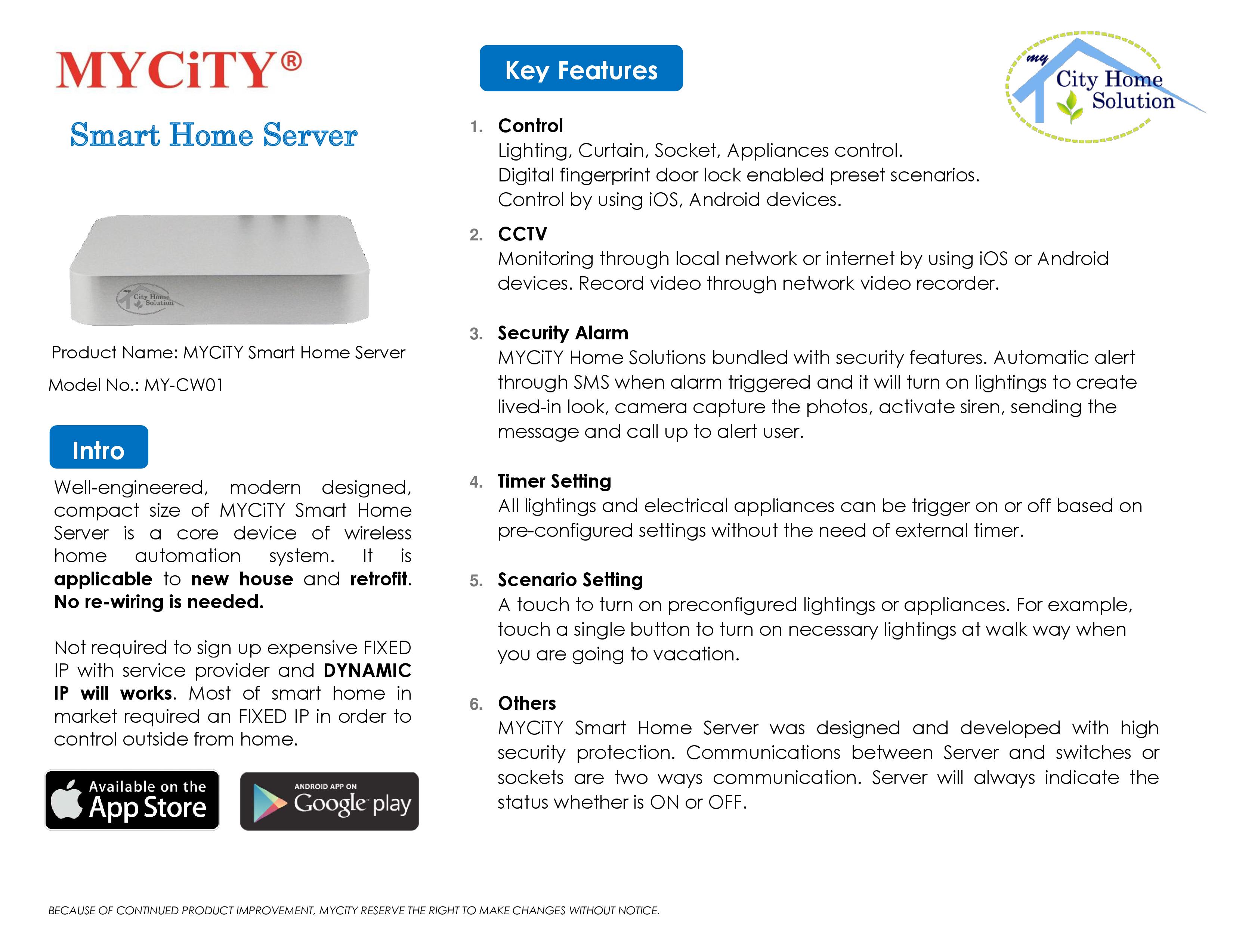 MYCiTY Smart Home Server Catalogue rev0.4 FINAL
