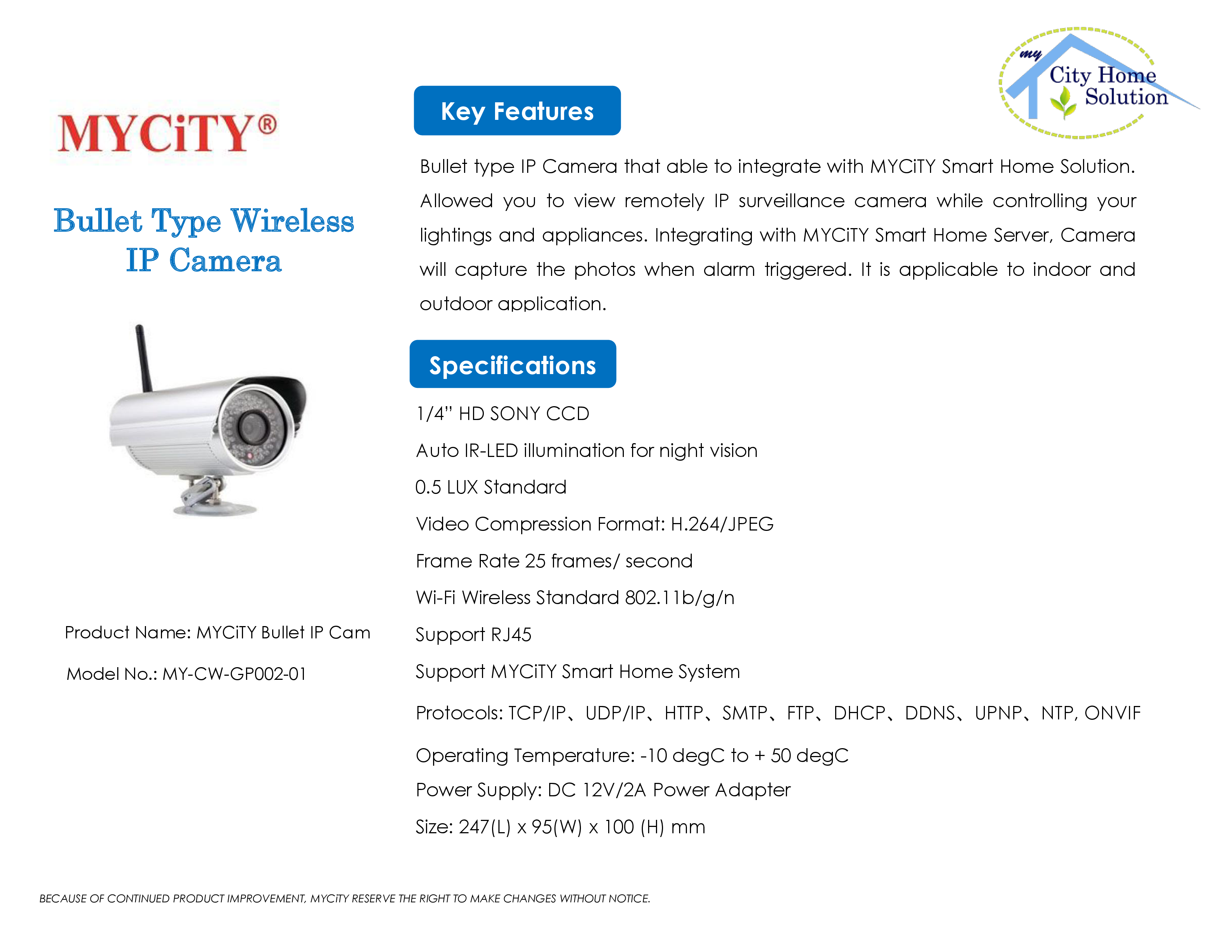 MYCiTY Bullet IP Camera rev0.4 FINAL