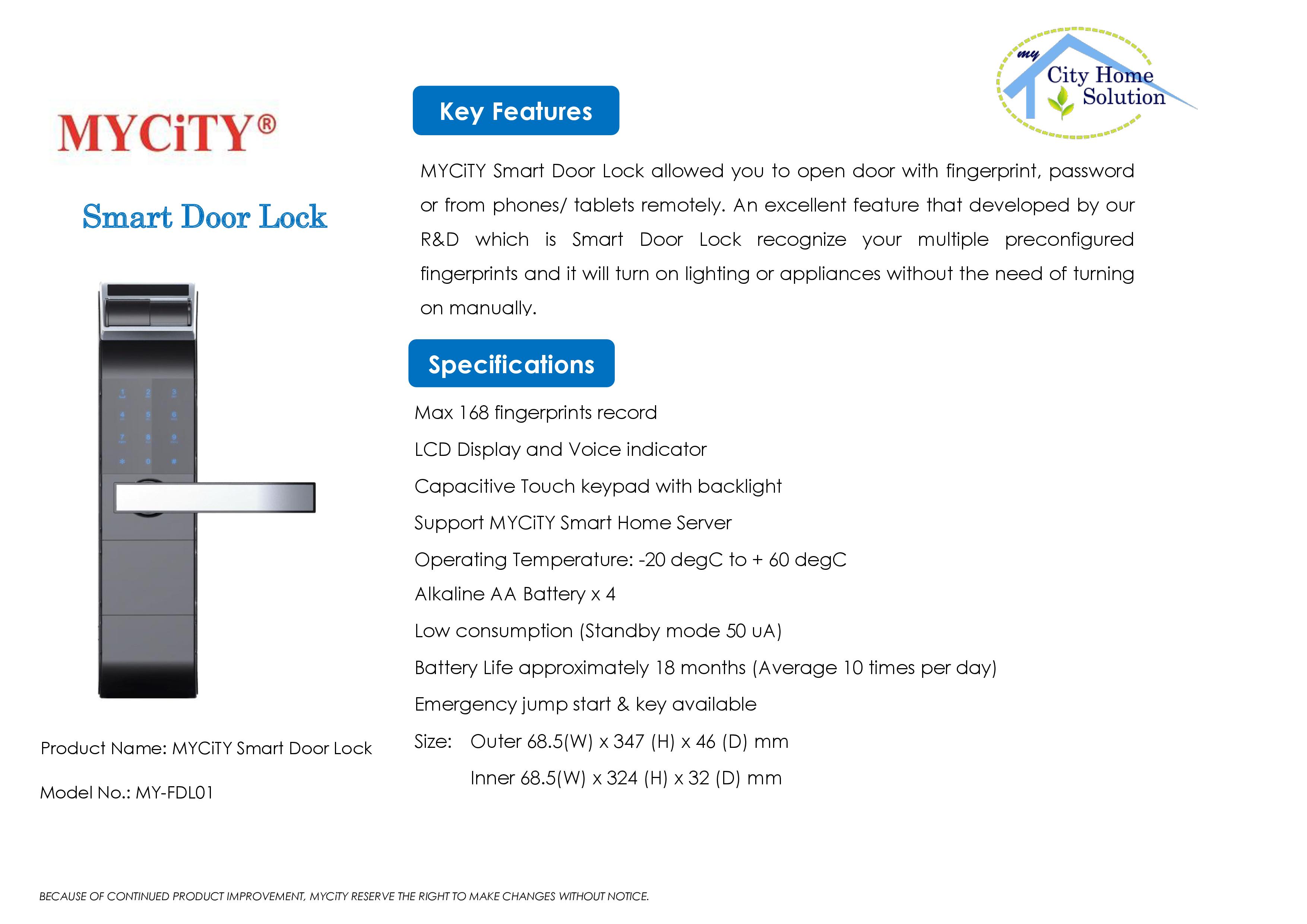 MYCiTY Fingerprint Door Lock rev0.2 FINAL